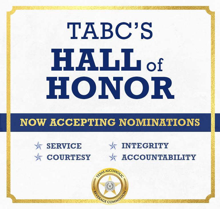 TABC Hall of Honor nominations are now open.