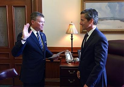 Kevin J. Lilly takes the oath of office